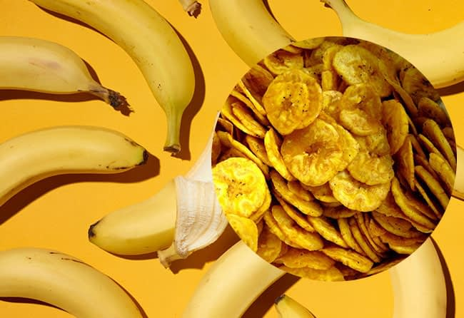sliced banana for industrial use