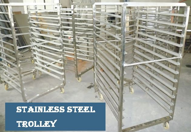 Stainless steel trolley of hot air dryer