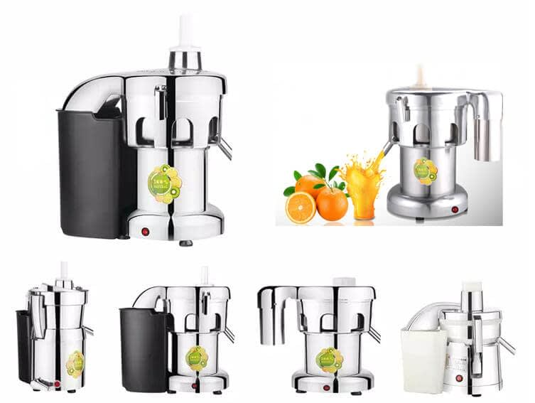 Centrifugal juice machines