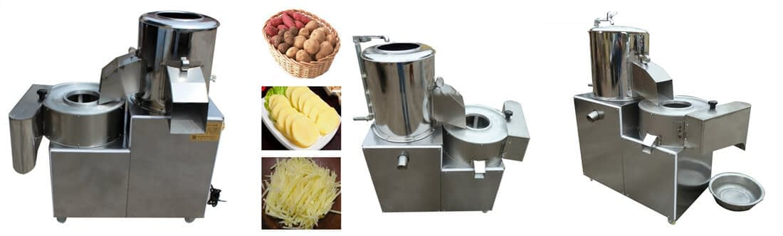 potato peeling cutting machine