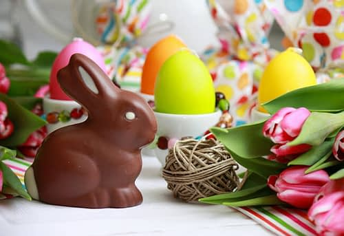 Easter Eggs and Chocolate Bunnies