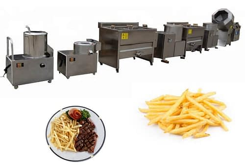 Semi-automatic Frozen French Fries Production Line