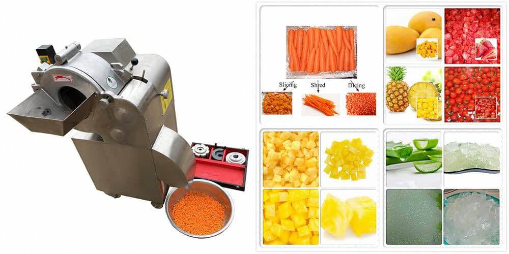Extensive usage of vegetable dicing machine